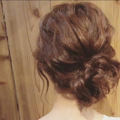 簡単ヘアアレンジ デート セミロング ナチュラル ヘアスタイルや髪型の写真・画像