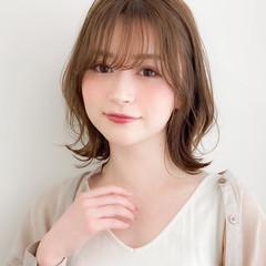 ナチュラル 髪質改善 ミディアム 縮毛矯正 ヘアスタイルや髪型の写真・画像