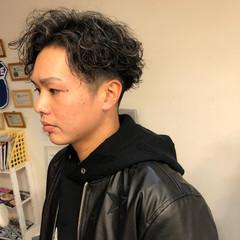 メンズパーマ ストリート スパイラルパーマ メンズカット ヘアスタイルや髪型の写真・画像