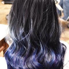 セミロング ハイライト 外国人風カラー グラデーションカラー ヘアスタイルや髪型の写真・画像