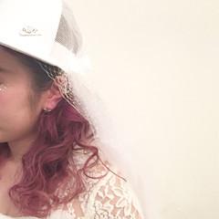 ダブルカラー 簡単ヘアアレンジ ショート ピンク ヘアスタイルや髪型の写真・画像