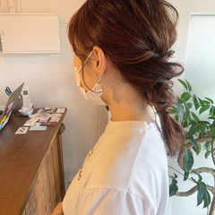 ふわふわヘアアレンジ 編みおろし 編みおろしヘア ナチュラル ヘアスタイルや髪型の写真・画像