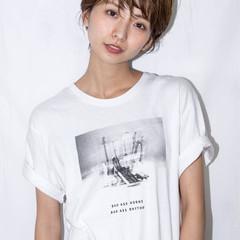 大人カジュアル ショート 小顔ショート ナチュラル ヘアスタイルや髪型の写真・画像