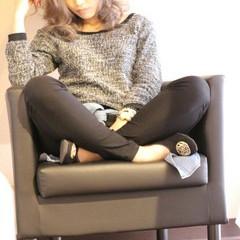 外国人風 モテ髪 セミロング フェミニン ヘアスタイルや髪型の写真・画像