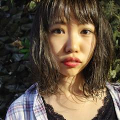 女子会 ミディアム アンニュイ デート ヘアスタイルや髪型の写真・画像