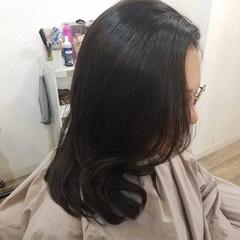 黒髪 デジタルパーマ 縮毛矯正名古屋市 フェミニン ヘアスタイルや髪型の写真・画像
