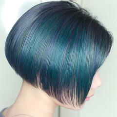派手髪 モード ハイトーンカラー ユニコーンカラー ヘアスタイルや髪型の写真・画像