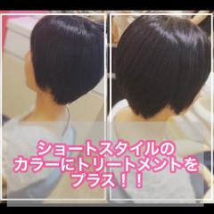 髪質改善トリートメント ベリーショート ショート 髪質改善 ヘアスタイルや髪型の写真・画像