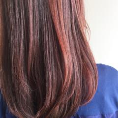 セミロング ピンク ナチュラル ラベンダーピンク ヘアスタイルや髪型の写真・画像