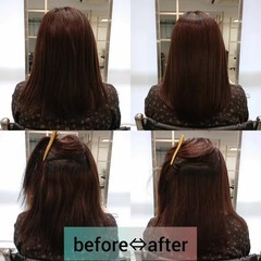ナチュラル 縮毛矯正 ロング 美髪 ヘアスタイルや髪型の写真・画像