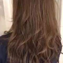 ロング フェミニン グラデーションカラー ゆるふわ ヘアスタイルや髪型の写真・画像