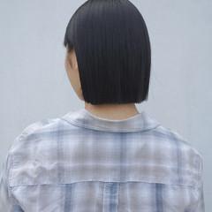 ショートボブ ボブ 切りっぱなしボブ ナチュラル ヘアスタイルや髪型の写真・画像