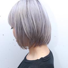 ストリート ダブルカラー ボブ グラデーションカラー ヘアスタイルや髪型の写真・画像