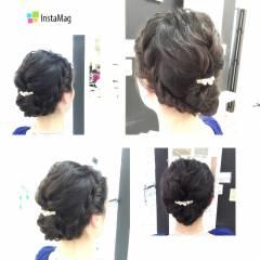 編み込み ヘアアレンジ ナチュラル モテ髪 ヘアスタイルや髪型の写真・画像