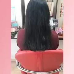 韓国ヘア コテ巻き エクステ ロング ヘアスタイルや髪型の写真・画像