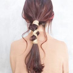 ヘアアレンジ 結婚式 オフィス フェミニン ヘアスタイルや髪型の写真・画像
