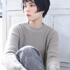 アッシュ モテ髪 冬 ナチュラル ヘアスタイルや髪型の写真・画像