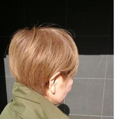 アッシュ ショート 白髪染め コンサバ ヘアスタイルや髪型の写真・画像