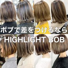 ナチュラル コントラストハイライト 3Dハイライト ハイライト ヘアスタイルや髪型の写真・画像