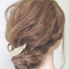 ショート 簡単ヘアアレンジ 結婚式 大人かわいい ヘアスタイルや髪型の写真・画像
