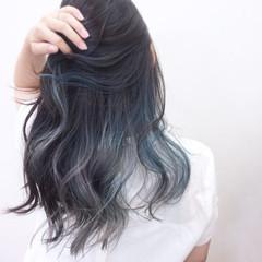 ロング ガーリー リラックス ハイトーン ヘアスタイルや髪型の写真・画像