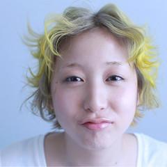 グラデーションカラー 個性的 外国人風 ショート ヘアスタイルや髪型の写真・画像