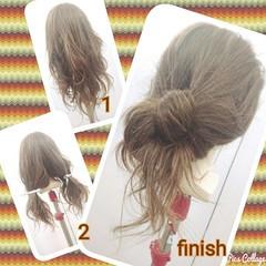 ヘアアレンジ セミロング 簡単ヘアアレンジ ヘアスタイルや髪型の写真・画像