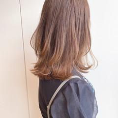 ナチュラル ミディアム 透明感 美髪 ヘアスタイルや髪型の写真・画像