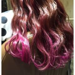外国人風 ガーリー ピンク ゆるふわ ヘアスタイルや髪型の写真・画像
