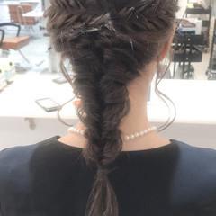 フェミニン セミロング 二次会ヘア ヘアセット ヘアスタイルや髪型の写真・画像
