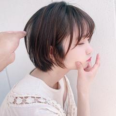 ショートカット ショート 切りっぱなしボブ ショートボブ ヘアスタイルや髪型の写真・画像