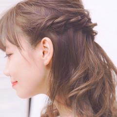 フェミニン ゆるふわ ショート 簡単ヘアアレンジ ヘアスタイルや髪型の写真・画像