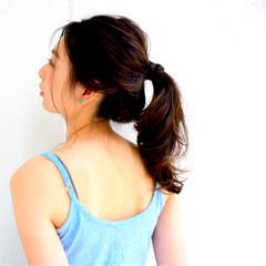 ショート ヘアアレンジ 大人かわいい ポニーテール ヘアスタイルや髪型の写真・画像