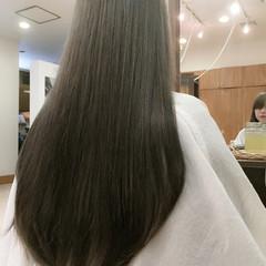 暗髪 ガーリー ブラウンベージュ グレージュ ヘアスタイルや髪型の写真・画像