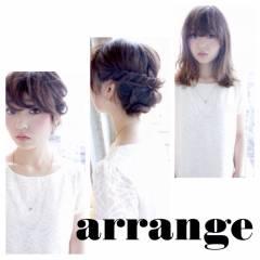 ナチュラル ヘアアレンジ 卵型 ヘアスタイルや髪型の写真・画像