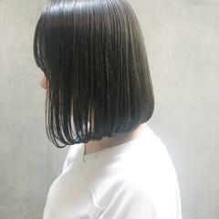 ミニボブ ナチュラル ショートボブ ショートヘア ヘアスタイルや髪型の写真・画像