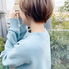 ナチュラル ショートヘア ひし形シルエット ショート ヘアスタイルや髪型の写真・画像