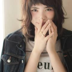 パンク ミディアム モテ髪 春 ヘアスタイルや髪型の写真・画像