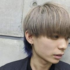 メンズスタイル ナチュラル メンズヘア ウルフカット ヘアスタイルや髪型の写真・画像