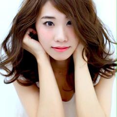ゆるふわ フェミニン セミロング 大人かわいい ヘアスタイルや髪型の写真・画像