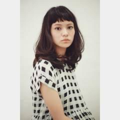 パーマ ボーイッシュ モード 黒髪 ヘアスタイルや髪型の写真・画像
