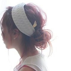 外国人風 ゆるふわ 簡単ヘアアレンジ セミロング ヘアスタイルや髪型の写真・画像