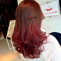 グラデーションカラー セミロング ヘアスタイルや髪型の写真・画像