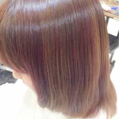 モテ髪 大人かわいい ピンク ハイライト ヘアスタイルや髪型の写真・画像