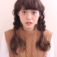 前髪あり ミディアム ヘアアレンジ ゆるふわ ヘアスタイルや髪型の写真・画像