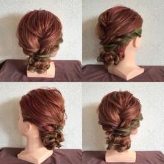 上品 セミロング 結婚式 謝恩会 ヘアスタイルや髪型の写真・画像