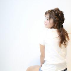 セミロング 編み込み パーティ ヘアアレンジ ヘアスタイルや髪型の写真・画像
