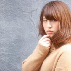 フェミニン 外国人風 ガーリー ミディアム ヘアスタイルや髪型の写真・画像