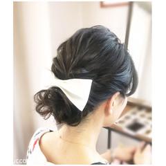 結婚式 ヘアアレンジ パーティ フェミニン ヘアスタイルや髪型の写真・画像