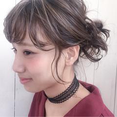 ミディアム ヘアアレンジ ピュア くせ毛風 ヘアスタイルや髪型の写真・画像